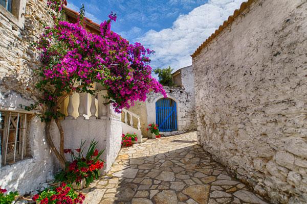afionas traditional village in corfu